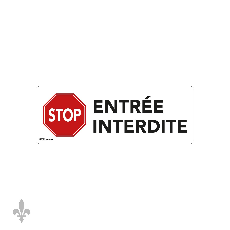 Entrée interdite (A20-015)